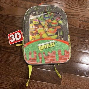 Nickelodeon kids back pack 3D teenage mutant ninja